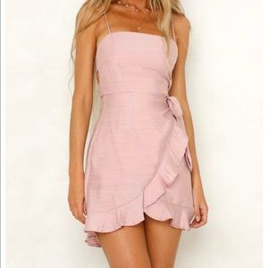 Pink dress from Hello Molly boutique